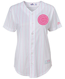 Majestic Chicago Cubs Cool Base Pink Glitter Jersey, Girls (8-14)