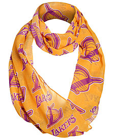 Forever Collectibles Los Angeles Lakers All Over Logo Infinity Wrap Scarf