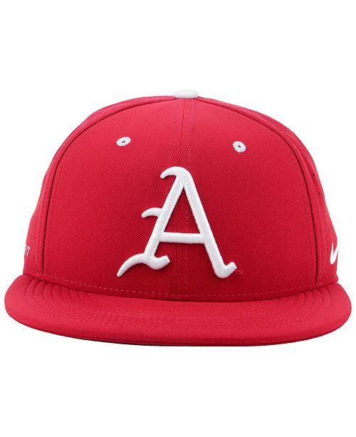 buy popular 62b25 64d61 ... Nike Arkansas Razorbacks Aerobill True Fitted Baseball Cap ...