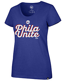 '47 Brand Women's Philadelphia 76ers Slogan Scoop T-Shirt
