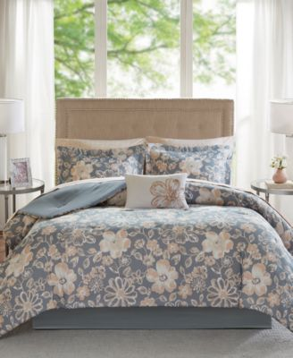 Lily Reversible 7-Pc. Twin Comforter Set
