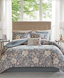 Madison Park Essentials Lily Reversible 9-Pc. Queen Comforter Set