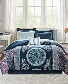 Loretta 9-Pc. Queen Comforter Set
