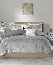 Raina 5-Pc. Full/Queen Duvet Cover Set
