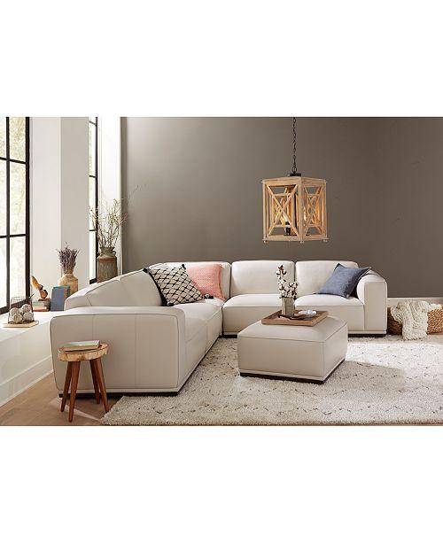 Furniture Zeraga Leather Modular Sofa Collection, Created for Macy\'s ...