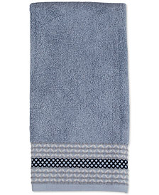 Saturday Knight Cubes Cotton Pintucked Diamond Hand Towel