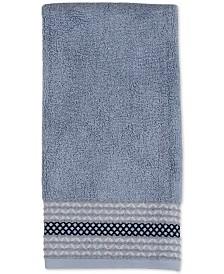 Saturday Knight Cubes Cotton Pintucked Diamond Hand Towel