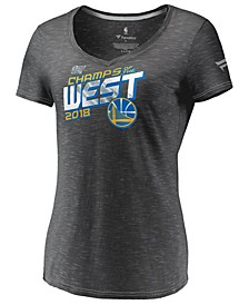 Women's Golden State Warriors Conference Champ Foil T-Shirt