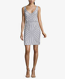 XSCAPE Beaded Sheath Dress