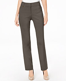 JM Collection Petite Regular Length Tummy-Control Curvy Fit Pants, Created for Macy's