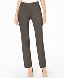 JM Collection Petite Tummy-Control Curvy Fit Pants, Created for Macy's