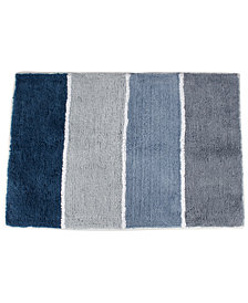 "Saturday Knight Cubes Cotton Tufted Stripe 20"" x 30"" Bath Rug"
