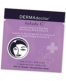 Receive a FREE Kakadu C Peel Pad packette with any DERMAdoctor purchase!