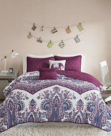 Intelligent Design Tulay Reversible 4-Pc. Twin/Twin XL Quilted Coverlet Set