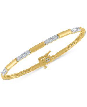 Diamond Station Link Bracelet (1/2 ct. t.w.) -  Macy's