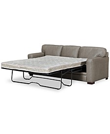 """Avenell 87"""" Leather Queen Sleeper Sofa, Created for Macy's"""