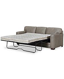 "Avenell 87"" Leather Full Sleeper Sofa, Created for Macy's"