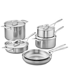 Demeyere Industry 10-Pc. Stainless Steel Cookware Set