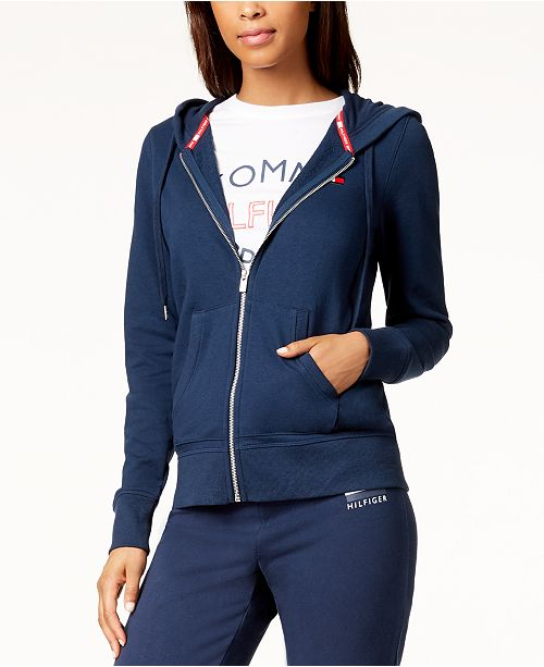 547c38f49 Tommy Hilfiger Logo Hoodie, Created for Macy's & Reviews - Jackets ...