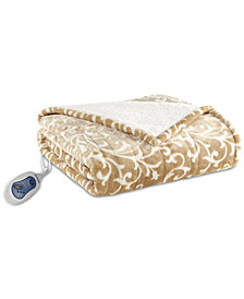 "Beautyrest Adelynn Reversible 50"" x 64"" Heated Snuggle Wrap Throw"