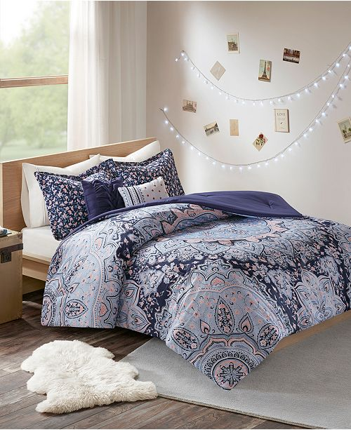 Intelligent Design Odette 5 Pc Fullqueen Boho Comforter Set Bed