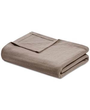 Madison Park Freshspun Cotton Basketweave Twin Blanket Bedding