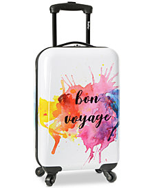 "Wembley Live It Up Bon Voyage 20"" Carry-On Spinner Suitcase"