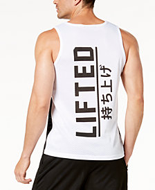 LRG Men's Black & White Mesh Tank