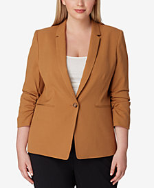 Tahari ASL Plus Size One-Button Blazer