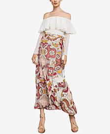 BCBGMAXAZRIA Printed Wrap Maxi Skirt