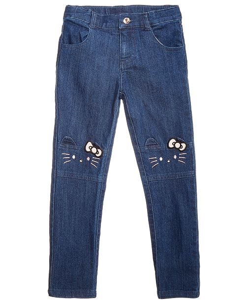404df2019 Hello Kitty Little Girls Embroidered Face Jeans & Reviews - Jeans ...