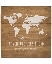 Cathy's Concepts World Map Wood Sign