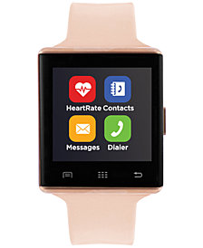 iTouch Unisex Air 2 Blush Silicone Strap Bluetooth Smart Watch 41mm
