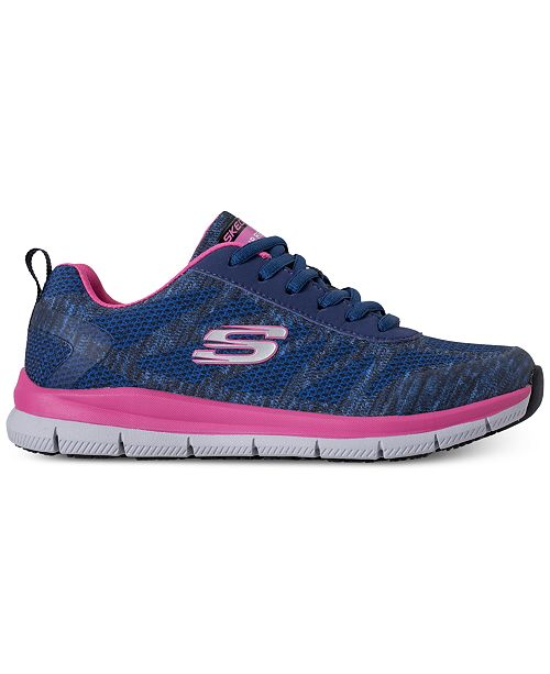 Skechers Women's Work Relaxed Fit: Comfort Flex Pro Hc Slip Resistant Athletic Sneakers from Finish Line fO3ma1