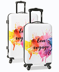 Wembley Live It Up Bon Voyage Hardside Luggage Collection