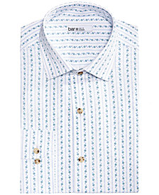 Bar III Men's Slim-Fit Stretch Easy-Care Vine Stripe Dress Shirt, Created for Macy's