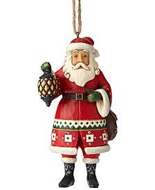 Jim Shore Santa with Lantern Ornament