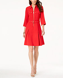 MICHAEL Michael Kors Belted Shirtdress, In Regular & Petite Sizes