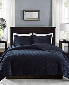 Harper Velvet Quilted Coverlet Sets