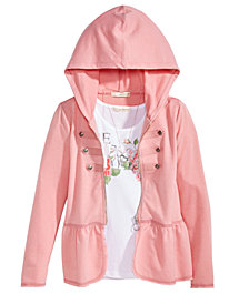 Self Esteem Big Girls 3-Pc. Hoodie, Tank Top & Necklace Set