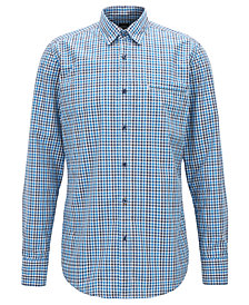 BOSS Men's Regular/Classic-Fit Checked Cotton Shirt