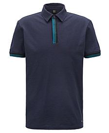 BOSS Men's Relaxed-Fit Piqué Cotton Polo