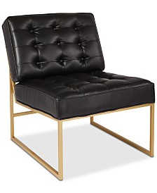 Cosell Faux Leather Chair, Quick Ship
