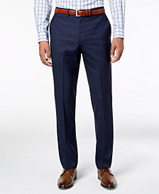 DKNY Men's Slim-Fit Blue Windowpane Suit Pants
