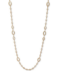 "Anne Klein Gold-Tone Oval Link 42"" Strand Necklace"