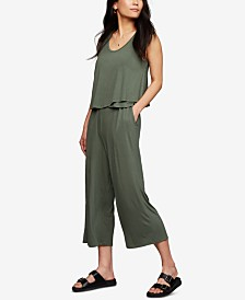 A Pea In The Pod Maternity Tiered Nursing Jumpsuit