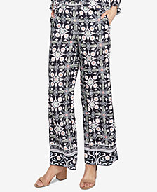 RACHEL Rachel Roy Printed Wide-Leg Pants, Created for Macy's