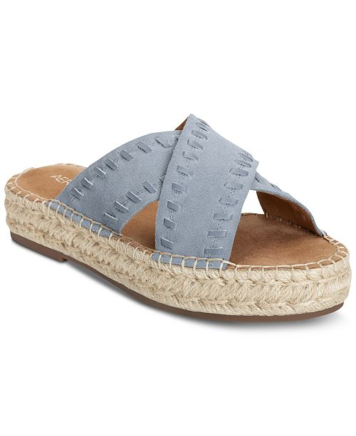 9034cff0cf1c Aerosoles Rose Gold Espadrille Slide Sandals   Reviews - Sandals ...