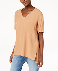 Eileen Fisher Silk High-Low T-Shirt
