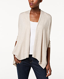 Eileen Fisher Tencel® Draped Open-Front Cardigan